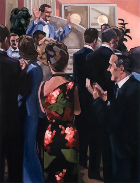 Kristen Thiele, Flower Dress, 2018Flower Dress, Oil on canvas, 30 ½ × 23 ½ inches (77.47 × 59.69 cm)