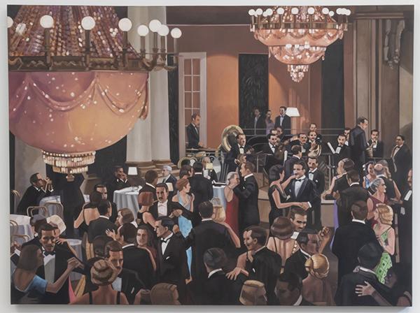 Kristen Thiele, Tanz, 2018Oil on Canvas,  52 × 69 inches (132.08 × 175.26 cm)