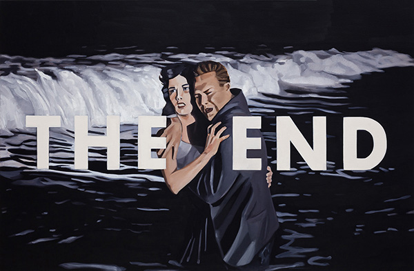 Kristen Thiele, The End II, 2018Oil on Canvas, 26 × 40 inches (66.04 × 101.60 cm)